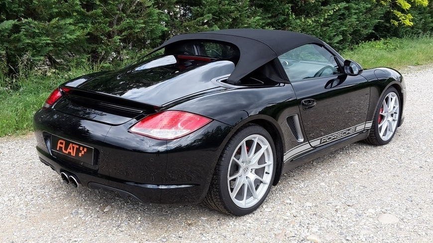 occasion porsche boxster spyder type 987 noir m tal chez flat 69 lyon r gion rh ne alpes. Black Bedroom Furniture Sets. Home Design Ideas