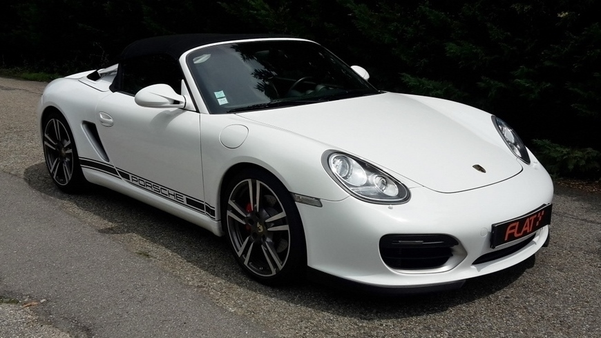 occasion porsche boxster spyder type 987 blanc chez flat 69 lyon r gion rh ne alpes. Black Bedroom Furniture Sets. Home Design Ideas
