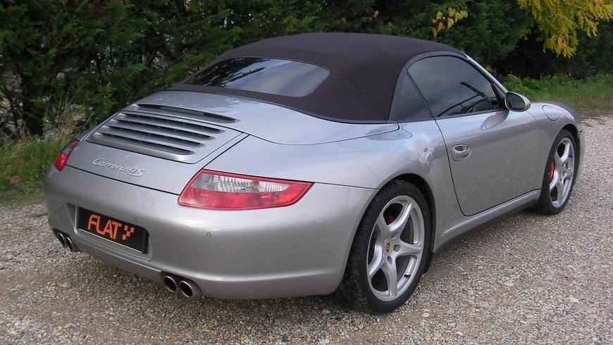 occasion porsche 911 carrera 4s cabriolet type 997 argent gt chez flat 69 lyon r gion rh ne. Black Bedroom Furniture Sets. Home Design Ideas