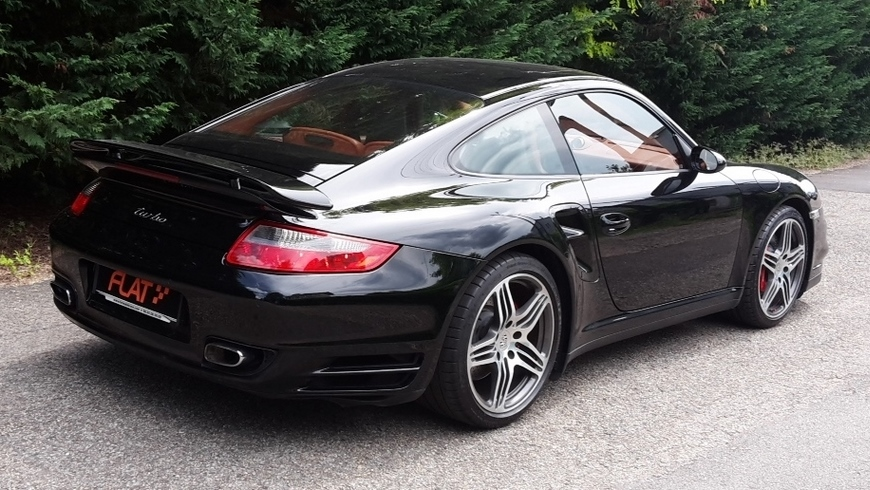 occasion porsche 911 turbo type 997 noir basalte chez flat 69 lyon r gion rh ne alpes. Black Bedroom Furniture Sets. Home Design Ideas
