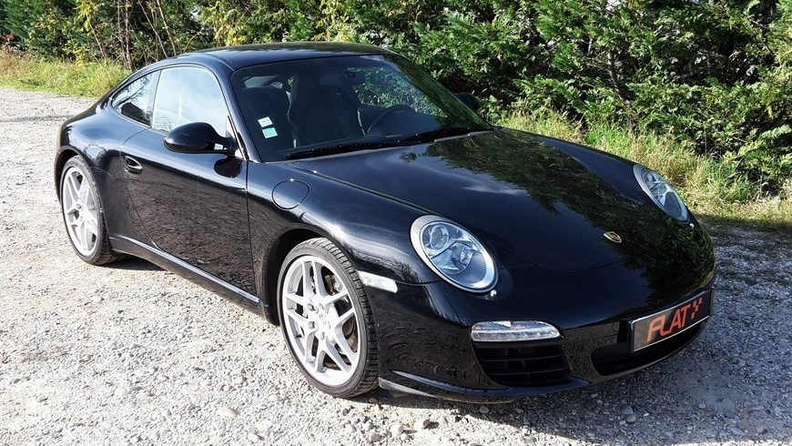 occasion porsche 911 carrera type 997 noir chez flat 69 lyon r gion rh ne alpes. Black Bedroom Furniture Sets. Home Design Ideas