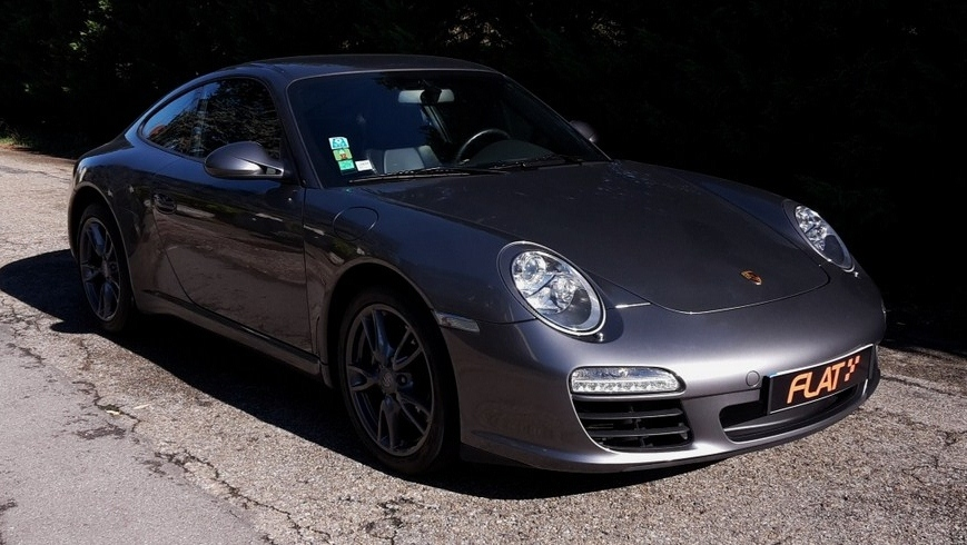 occasion porsche 911 carrera type 997 gris m t or chez flat 69 lyon r gion rh ne alpes. Black Bedroom Furniture Sets. Home Design Ideas