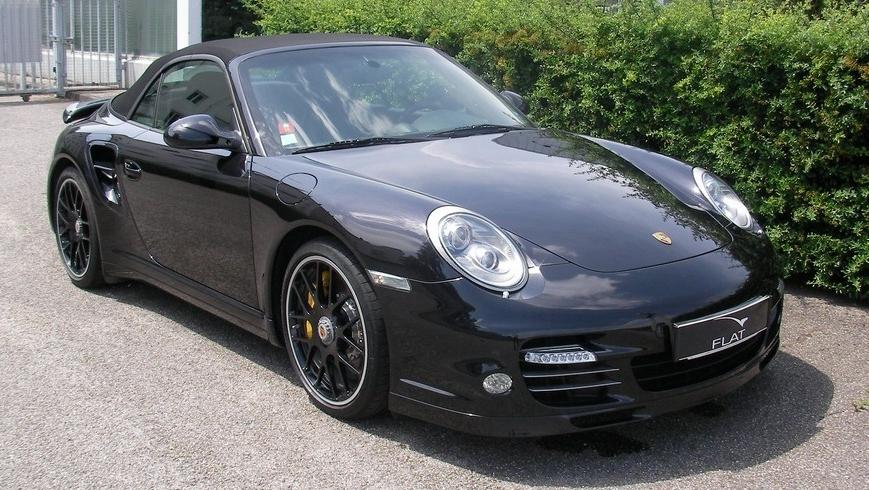 occasion porsche 911 turbo s cabriolet type 997 noir basalte chez flat 69 lyon r gion rh ne. Black Bedroom Furniture Sets. Home Design Ideas