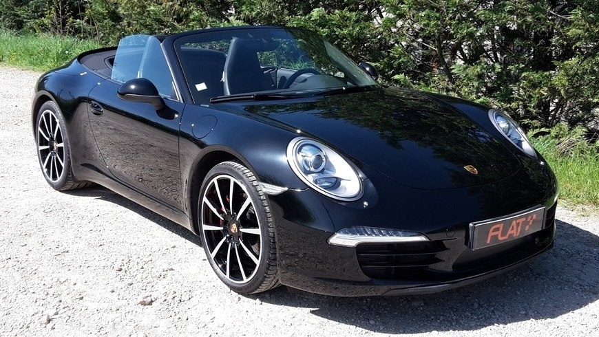 occasion porsche 911 carrera cabriolet type 991 noir chez flat 69 lyon r gion rh ne alpes. Black Bedroom Furniture Sets. Home Design Ideas